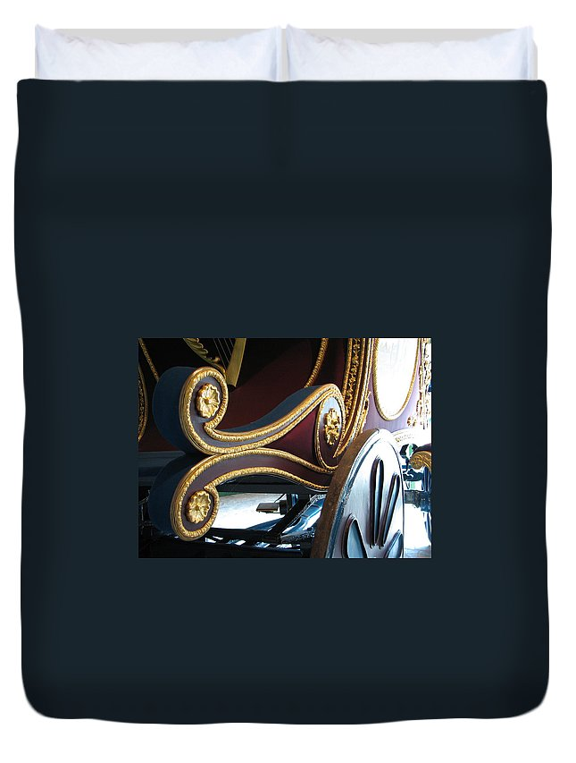 O'connell Duvet Cover featuring the photograph Liberator by Kelly Mezzapelle