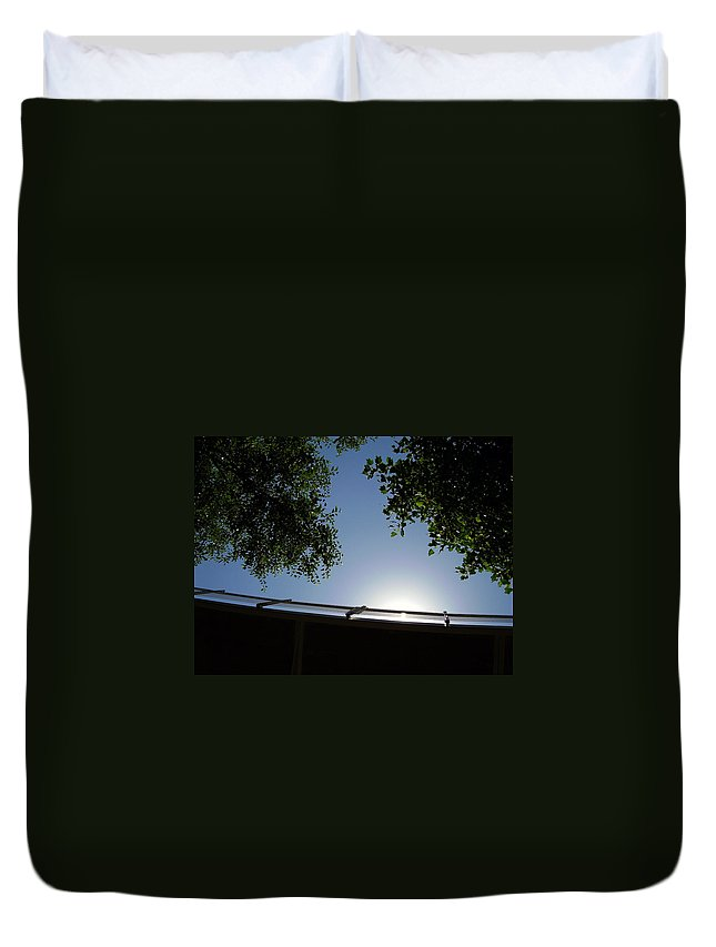 Liberty Bridge Duvet Cover featuring the photograph Liberty Bridge by Flavia Westerwelle