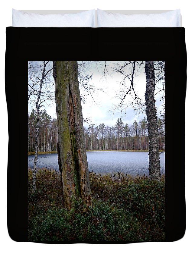 Lehtokukka Duvet Cover featuring the photograph Liesilampi 2 by Jouko Lehto