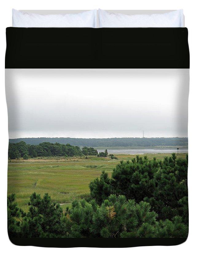 Marsh Duvet Cover featuring the photograph Lieutenant Island Marsh by Barbara McDevitt