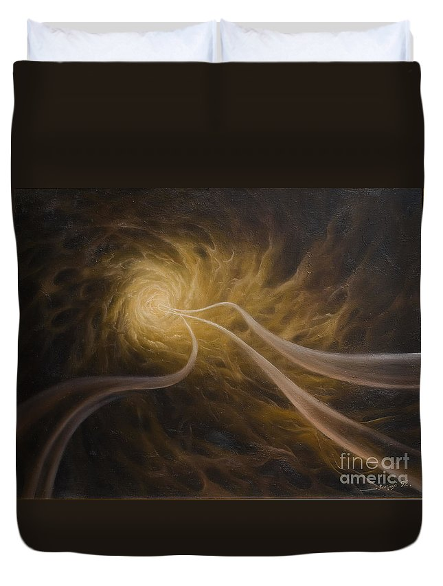 Abstract Duvet Cover featuring the painting Life After Death by Arthur Braginsky