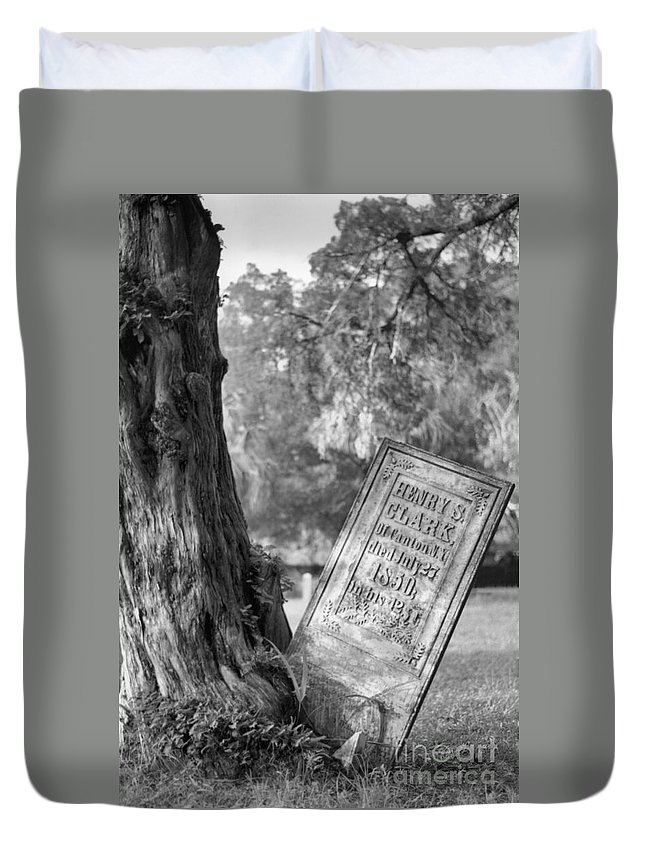 Graves Duvet Cover featuring the photograph Life After Death by Richard Rizzo