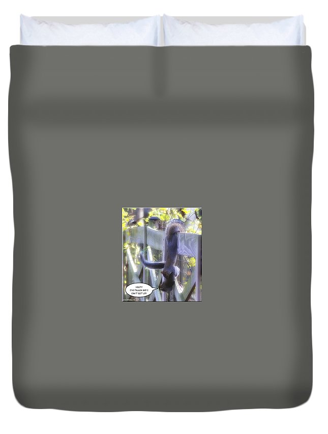 2d Duvet Cover featuring the photograph Life Alert by Brian Wallace