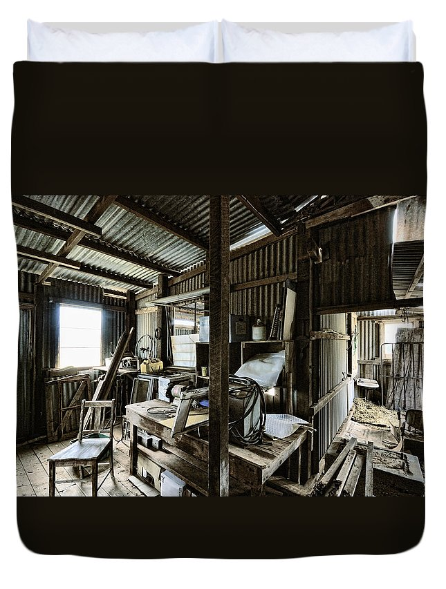 Shed Duvet Cover featuring the photograph Life As A Shed by Wayne Sherriff