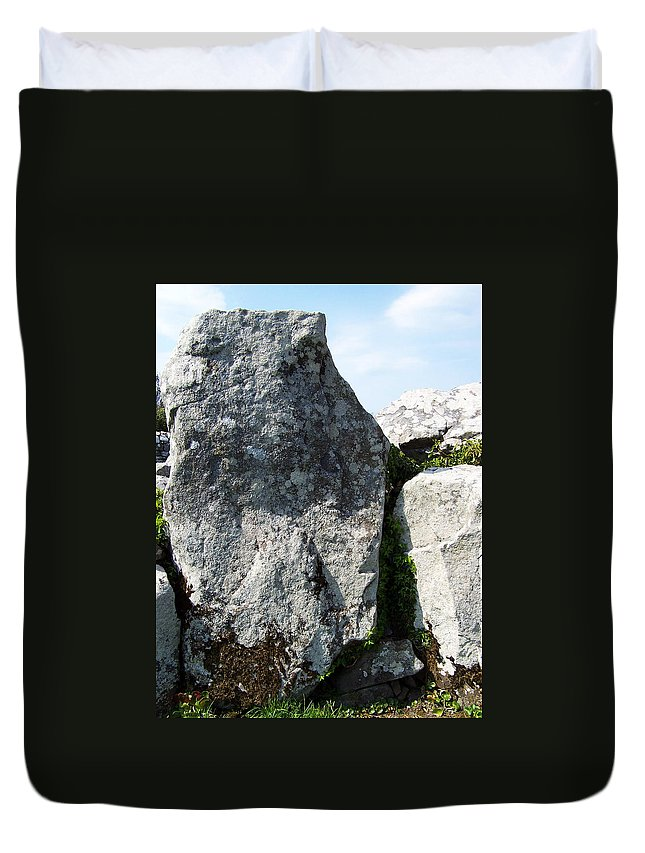 Irish Duvet Cover featuring the photograph Life At Creevykeel Court Cairn Sligo Ireland by Teresa Mucha