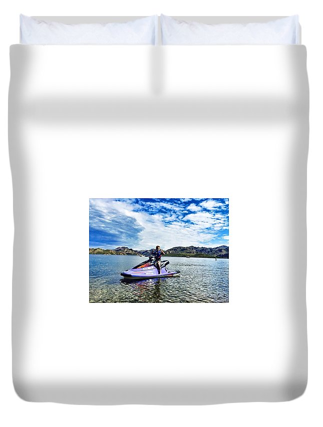Portrait Duvet Cover featuring the photograph Life by Carla Larson