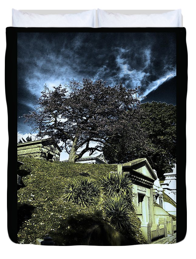 Cemetery Duvet Cover featuring the photograph Life From Death by Scott Wyatt
