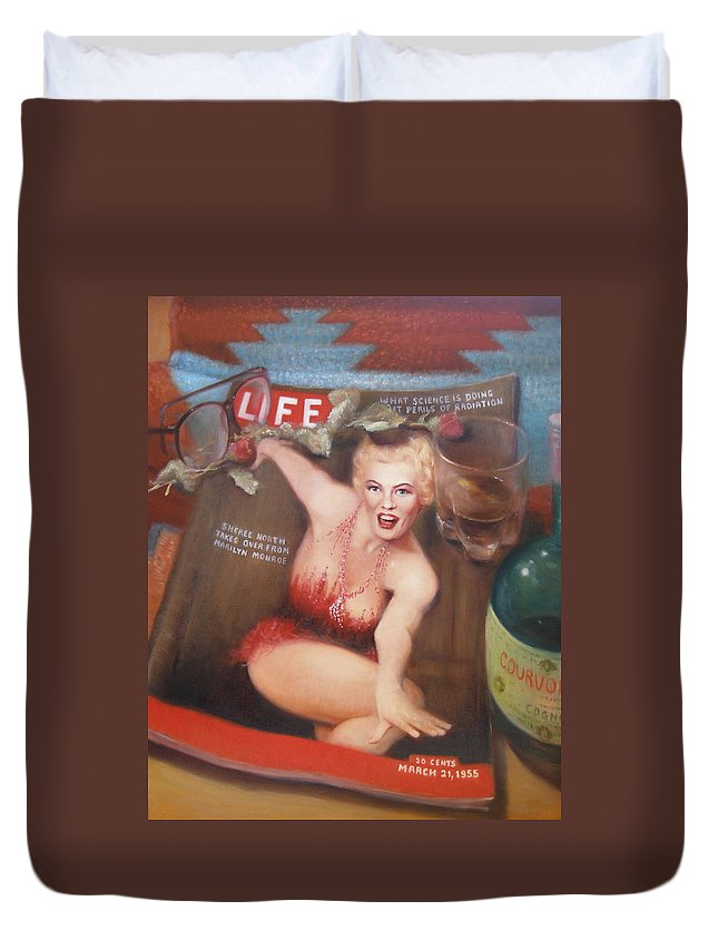 Realism Duvet Cover featuring the painting Life In The Fifties by Donelli DiMaria