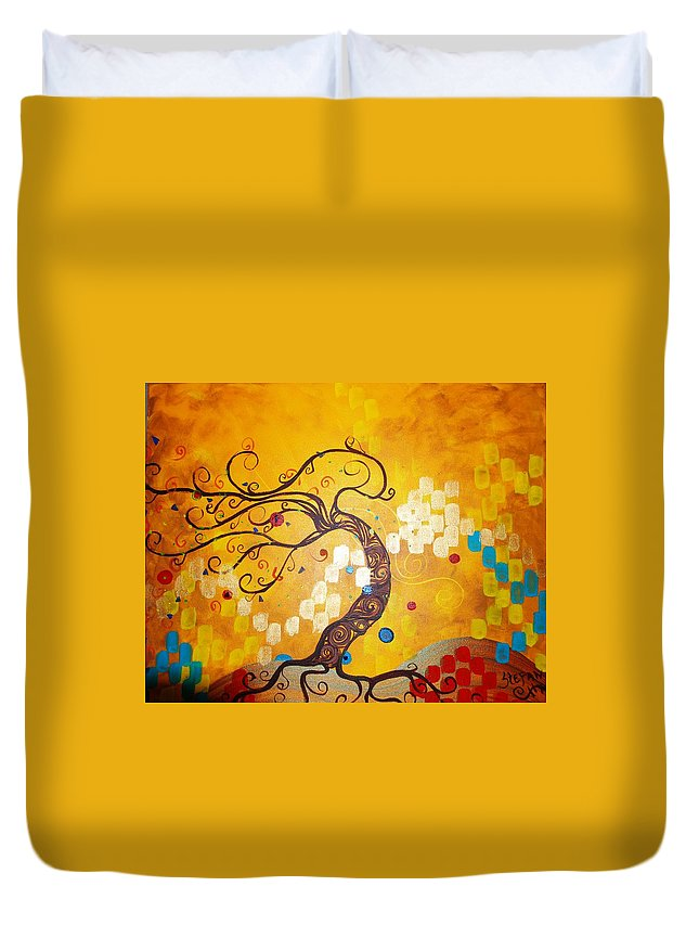 Duvet Cover featuring the painting Life Is A Ball by Stefan Duncan