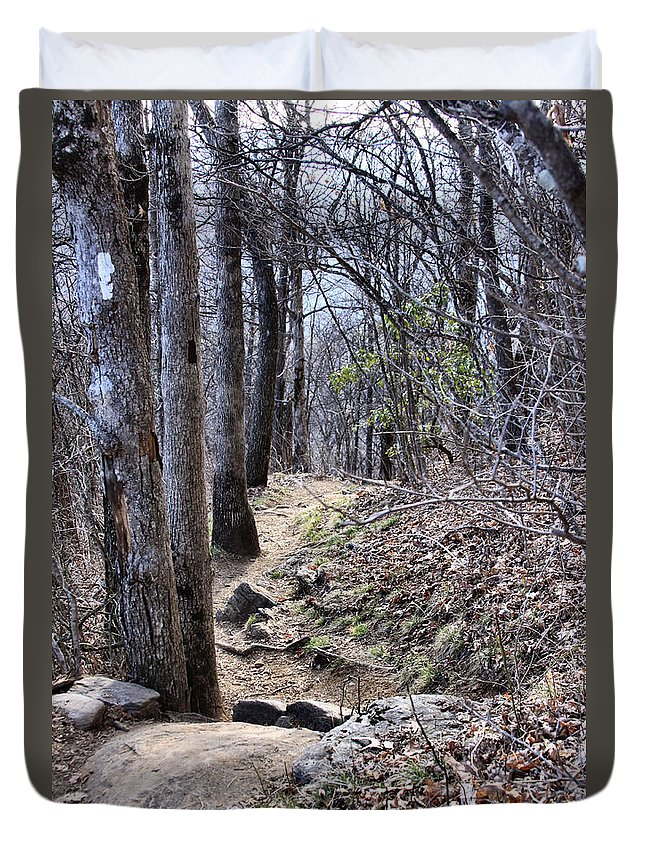 Duvet Cover featuring the photograph Life Is Not A Rocky Road... This Is... by Maris Salmins