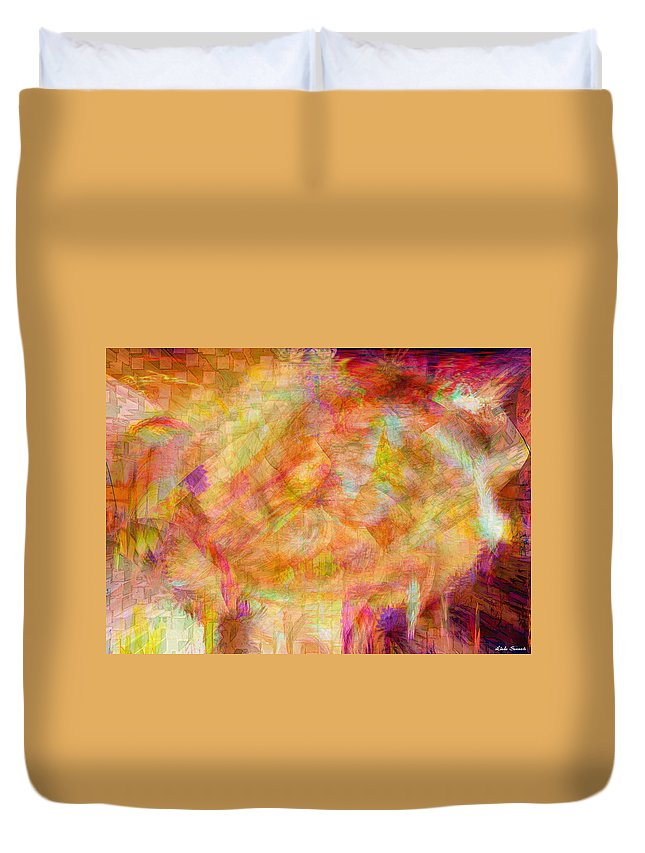 Abstracts Duvet Cover featuring the digital art Life by Linda Sannuti
