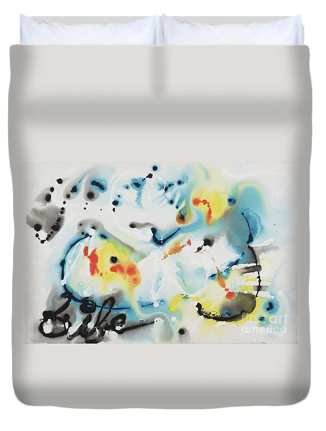 Life Duvet Cover featuring the painting Life by Nadine Rippelmeyer