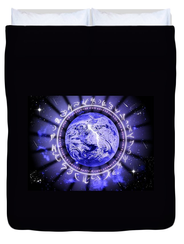 Life Duvet Cover featuring the digital art Life by Rhonda Barrett