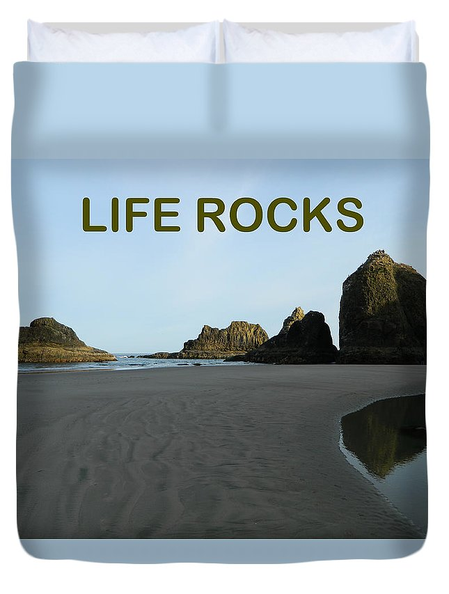 Nature Duvet Cover featuring the photograph Life Rocks by Gallery Of Hope