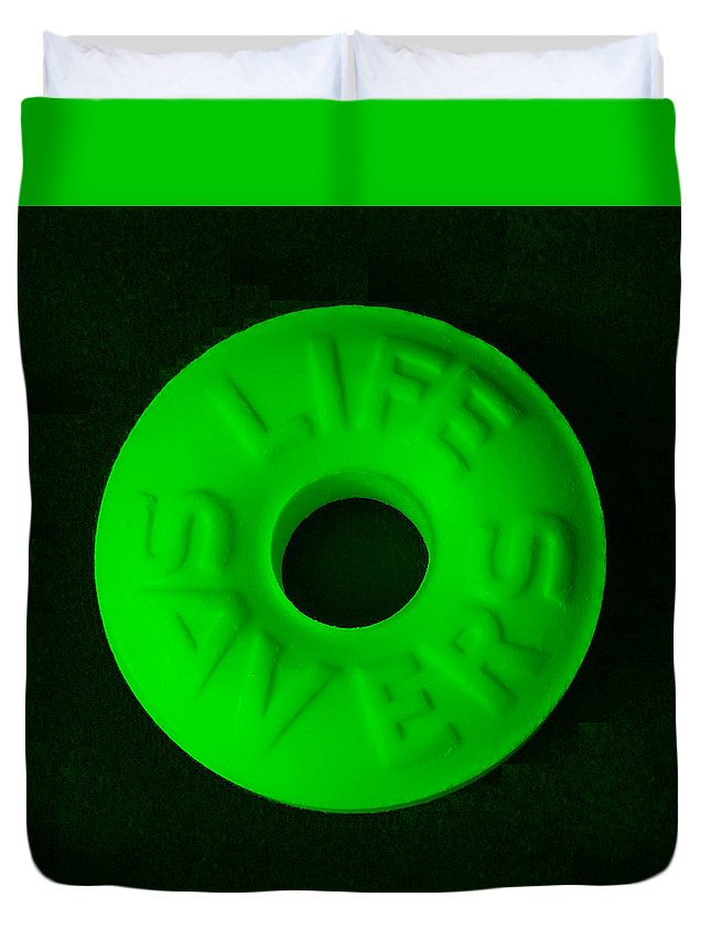 Life Saver Duvet Cover featuring the photograph Life Savers Mint by Rob Hans