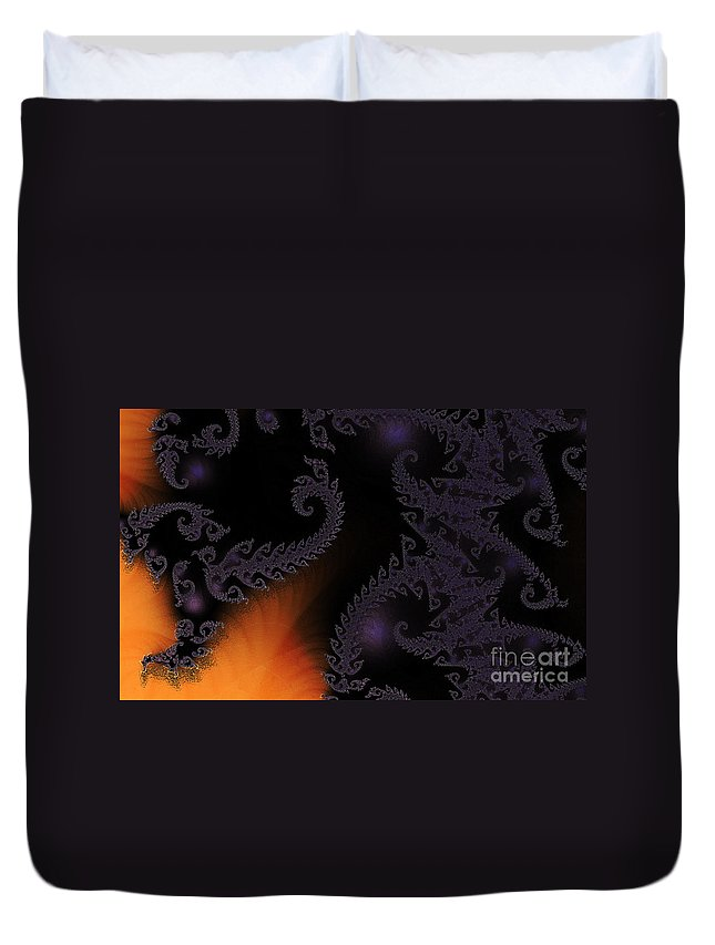 Clay Duvet Cover featuring the digital art Life Under Glass by Clayton Bruster