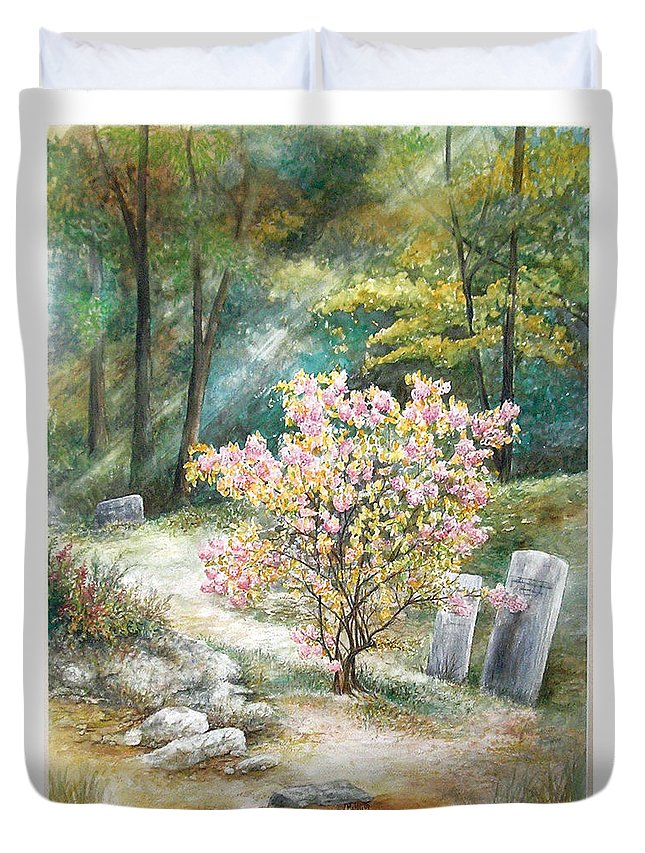 Landscape Duvet Cover featuring the painting Life by Valerie Meotti