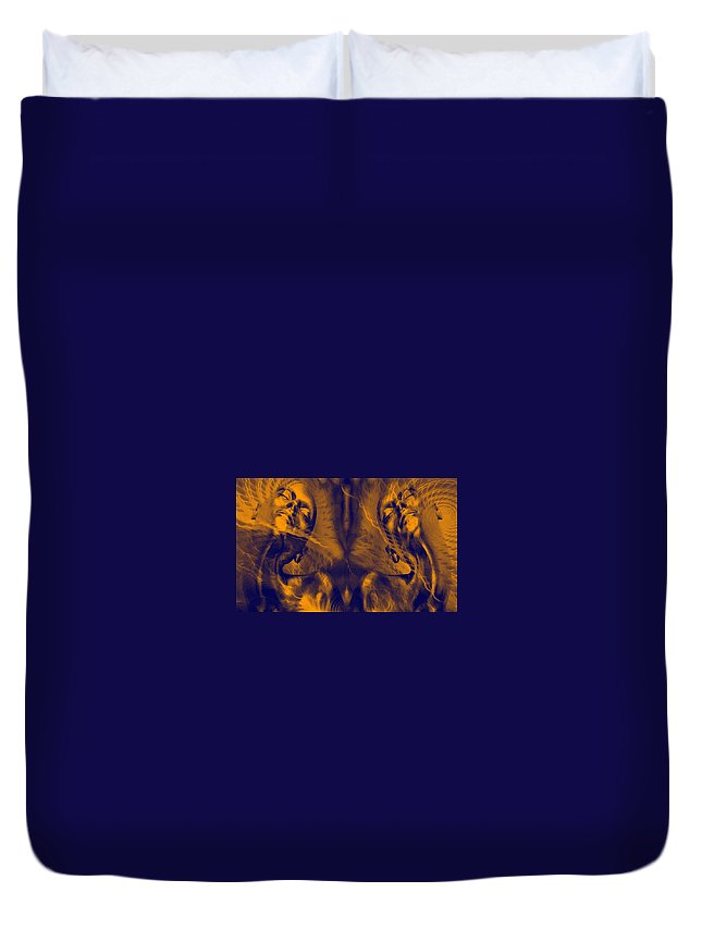 Live Duvet Cover featuring the digital art Life Vibrations by Bliss Of Art