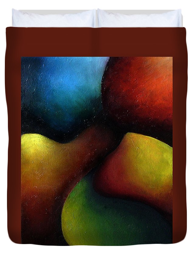 Fruit Duvet Cover featuring the painting Life's Fruit by Elizabeth Lisy Figueroa
