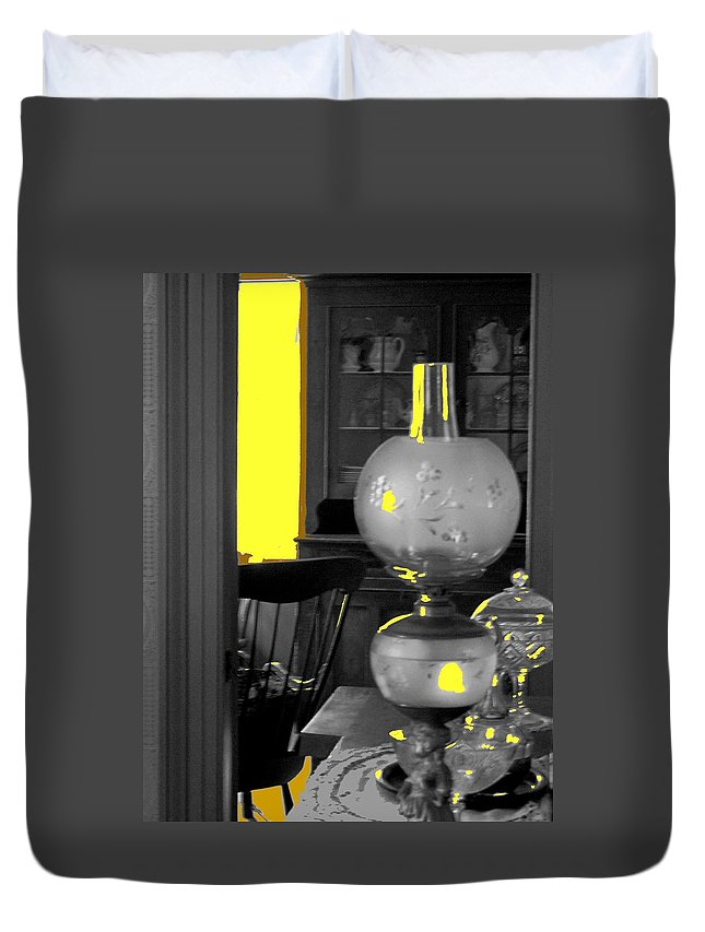 Antiques Duvet Cover featuring the photograph Light Among The Antiques by Ian MacDonald