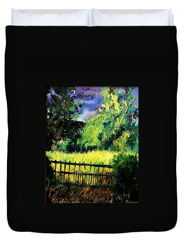 Spring Duvet Cover featuring the painting Light Before The Storm by Pol Ledent