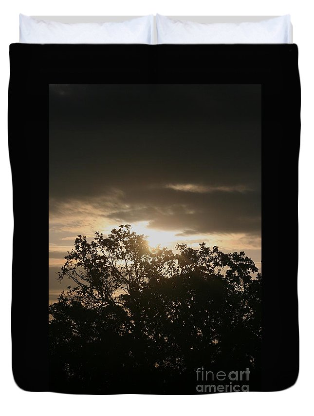 Light Duvet Cover featuring the photograph Light Chasing Away The Darkness by Nadine Rippelmeyer