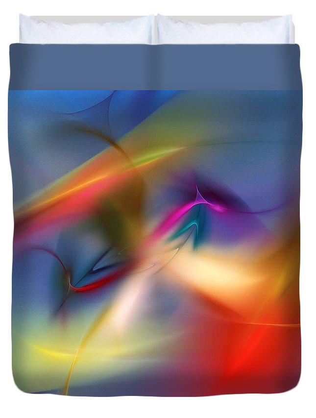 Digital Painting Duvet Cover featuring the digital art Light Dance 010310 by David Lane
