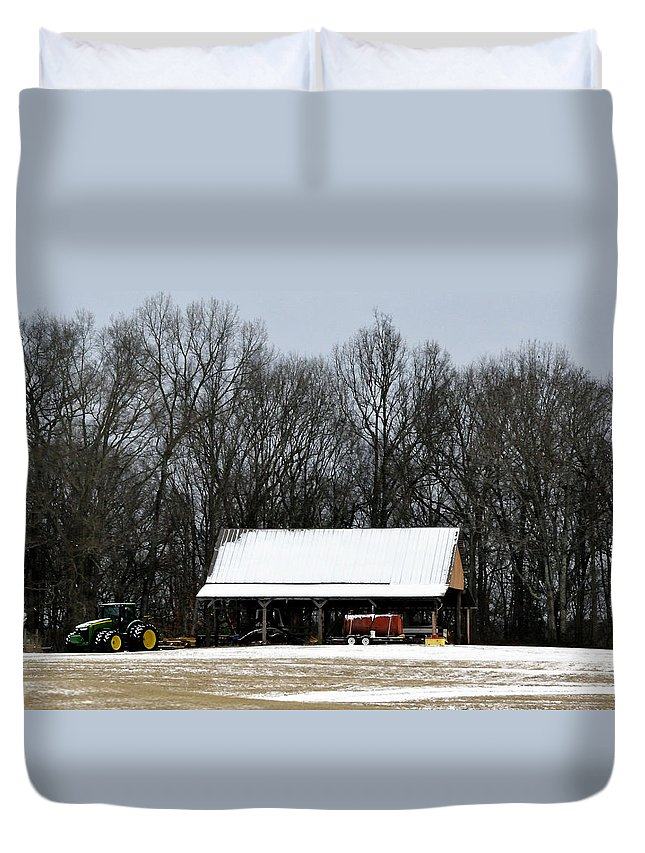 Snow Duvet Cover featuring the photograph Light Dusting by Glenda Ward