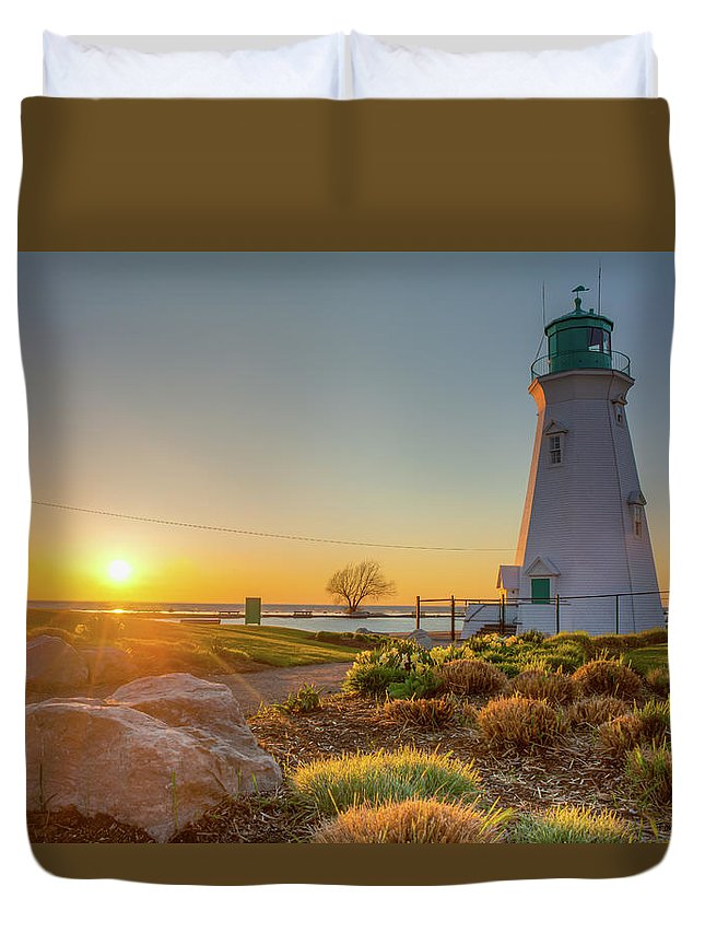 Lanscape Duvet Cover featuring the photograph Light House by Tommy Jaksic