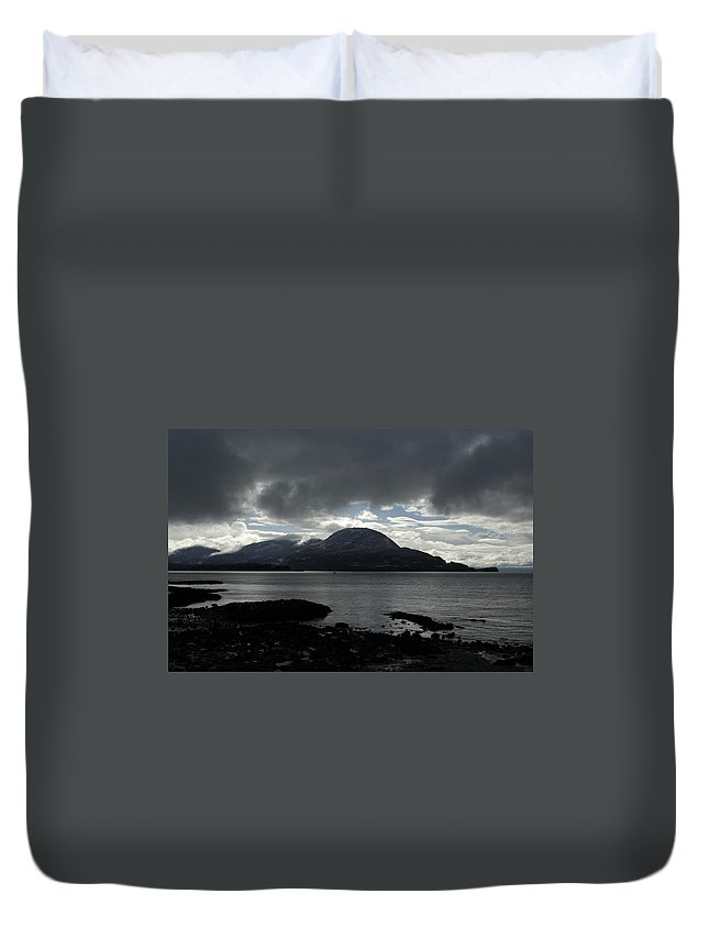 Landscape Duvet Cover featuring the photograph Light In Darkness by Sara Stevenson