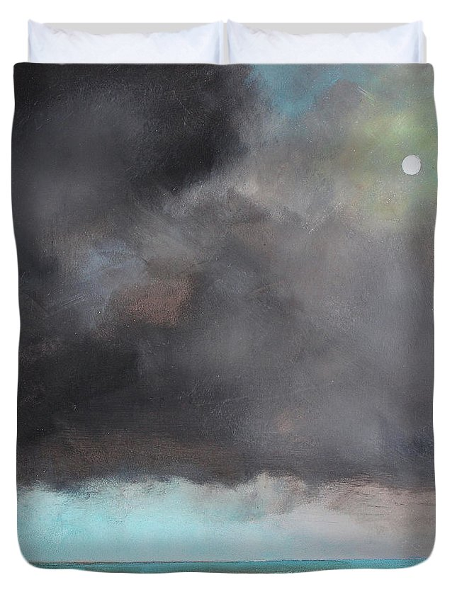 Storm Duvet Cover featuring the painting Light Of Hope by Toni Grote