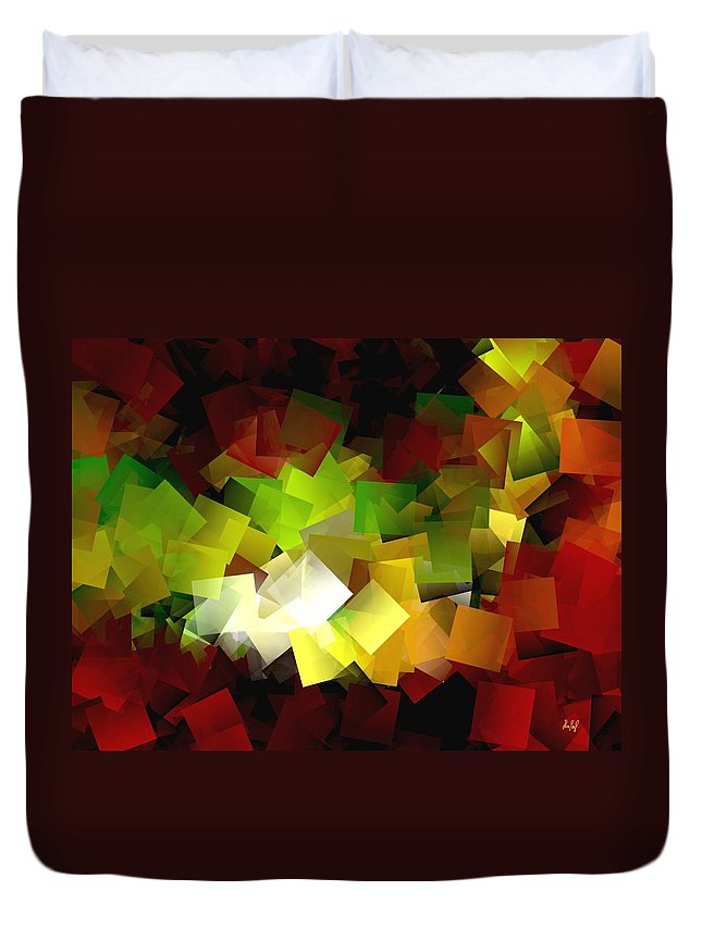 Kubic Duvet Cover featuring the digital art Light On The End Of Darkness by Helmut Rottler