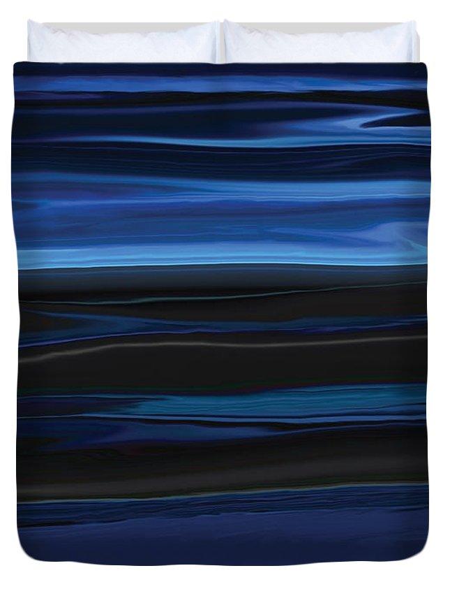 Black Duvet Cover featuring the digital art Light On The Horizon by Rabi Khan