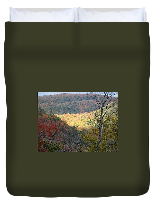 Fall Duvet Cover featuring the photograph Light On The Valley by Kelly Mezzapelle