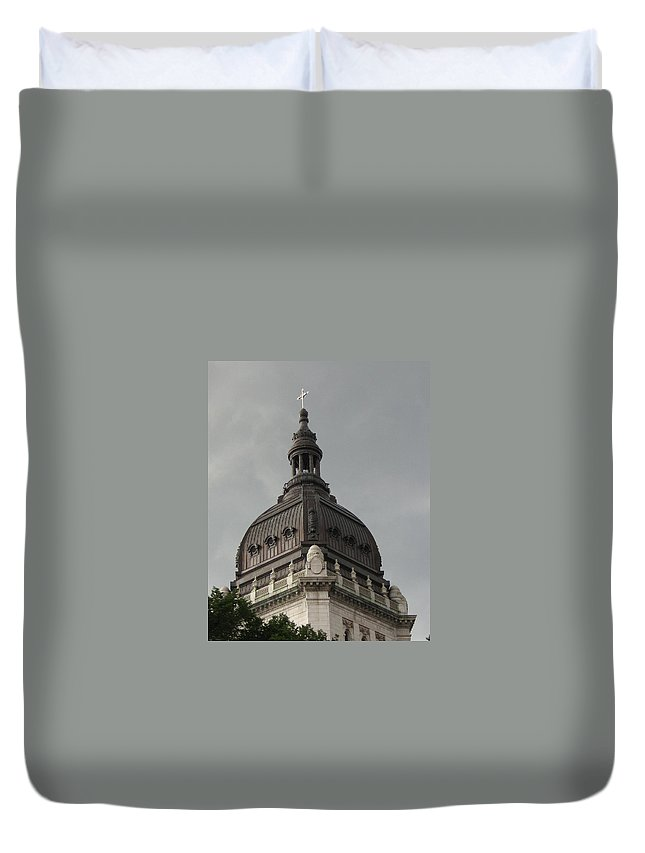 Architecture Duvet Cover featuring the photograph Light On Top by D Nigon