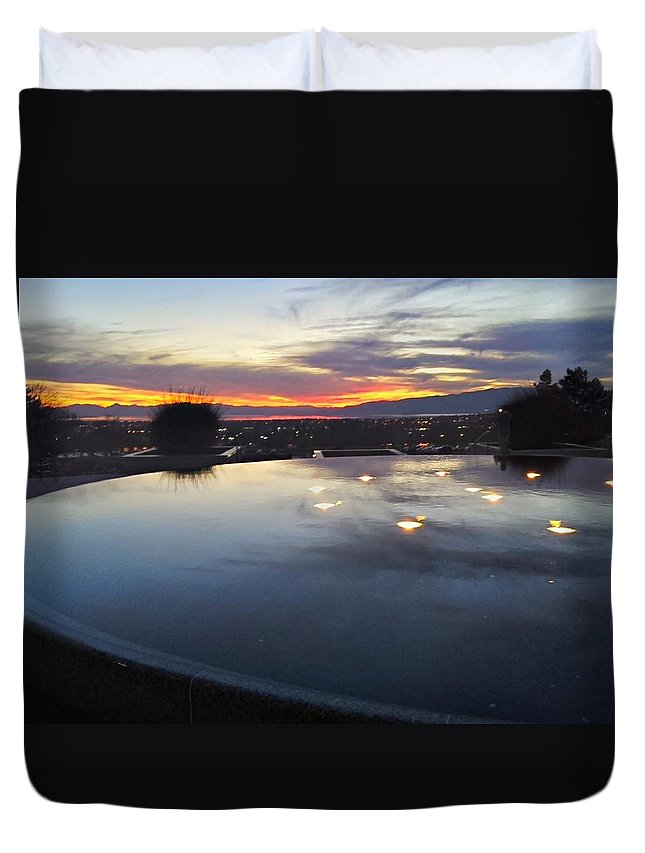 Landscapes Duvet Cover featuring the photograph Light Reflections by Jess' Shots