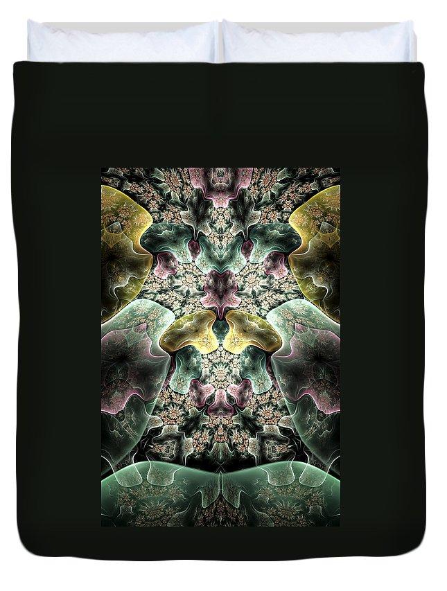 Fractal Duvet Cover featuring the digital art Light Scatterings by Amorina Ashton