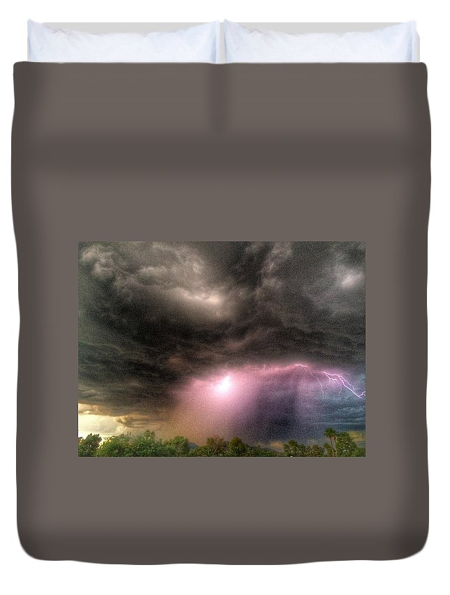 Lightning Duvet Cover featuring the photograph Light Show by Xavier Moran