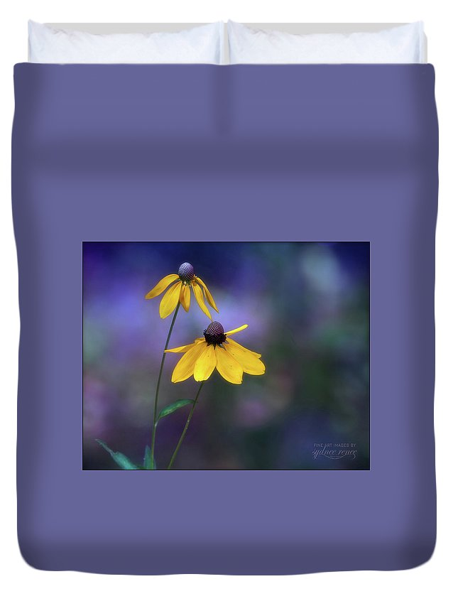 Flower Duvet Cover featuring the photograph Light Springing From Darkness by Sydnee Crain