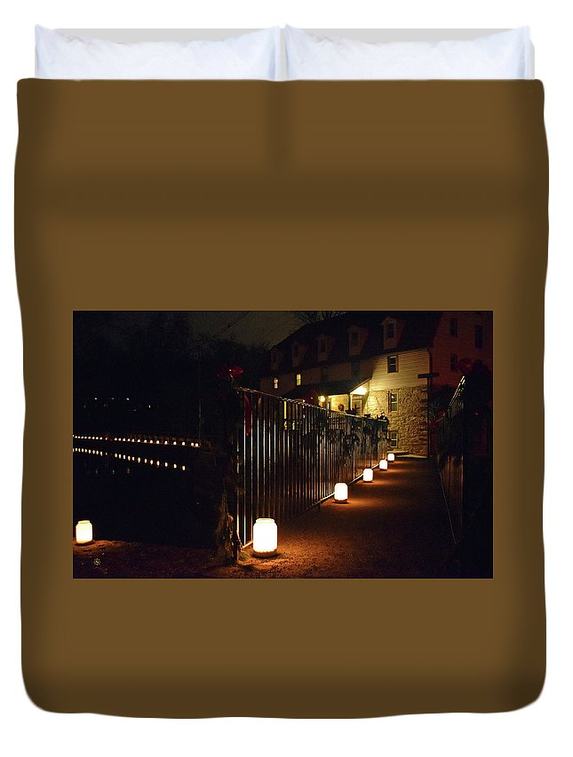 Duvet Cover featuring the photograph Light The Way Home For The Holidays by Staci Grimes