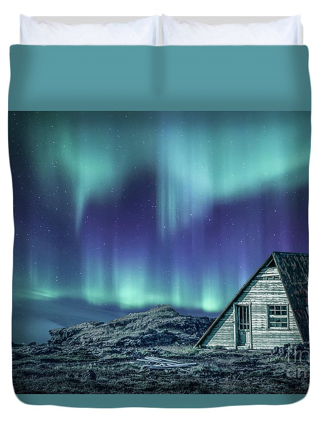 Aurora Duvet Cover featuring the photograph Light Up My Darkness by Evelina Kremsdorf