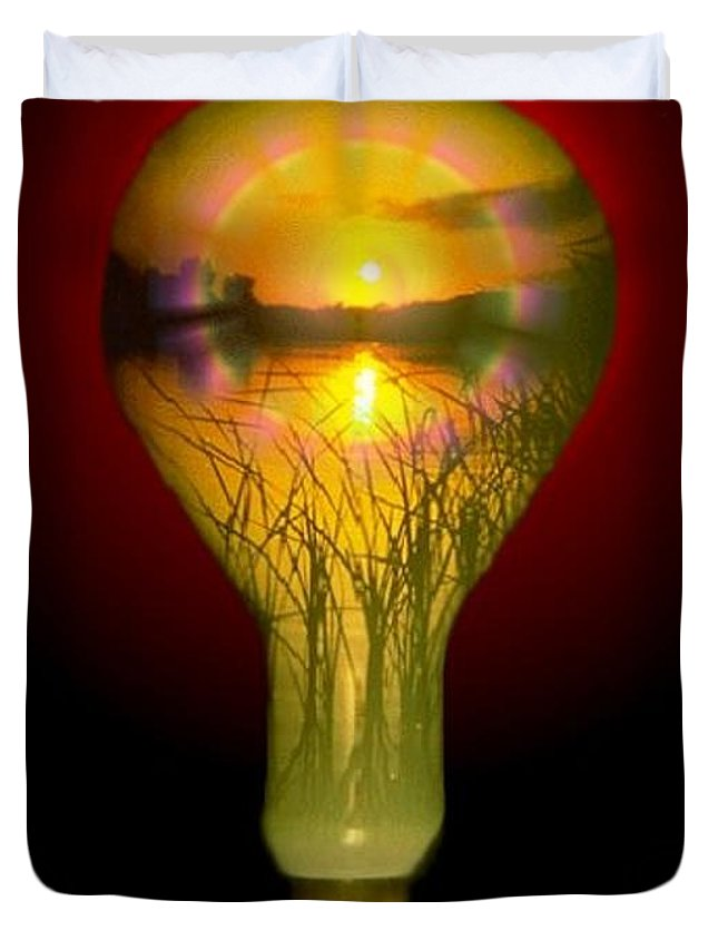 Sunset Duvet Cover featuring the photograph Lighthearted Sunset by Tim Allen