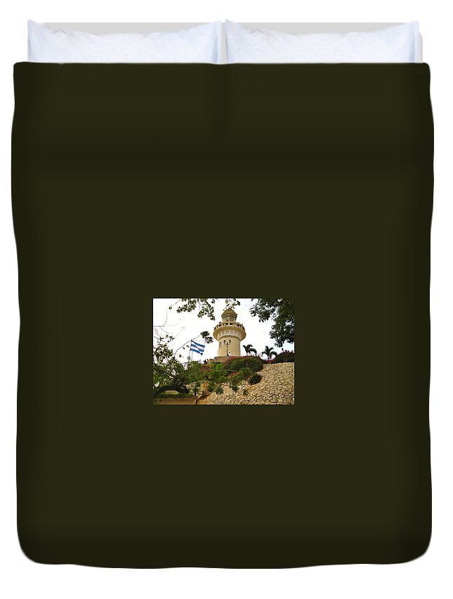 Lighthouse Duvet Cover featuring the photograph Lighthouse by Rene Triay Photography