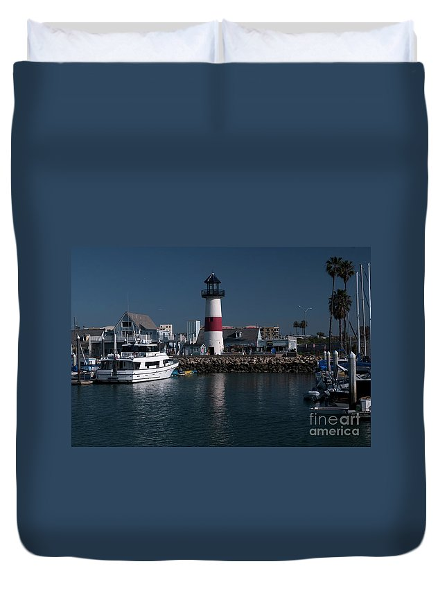 Oceanside Duvet Cover featuring the photograph Lighthouse by Rod Wiens