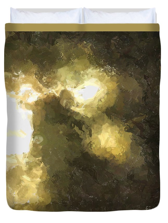 Abstract Duvet Cover featuring the photograph Lighting The Way by Teresa Henry