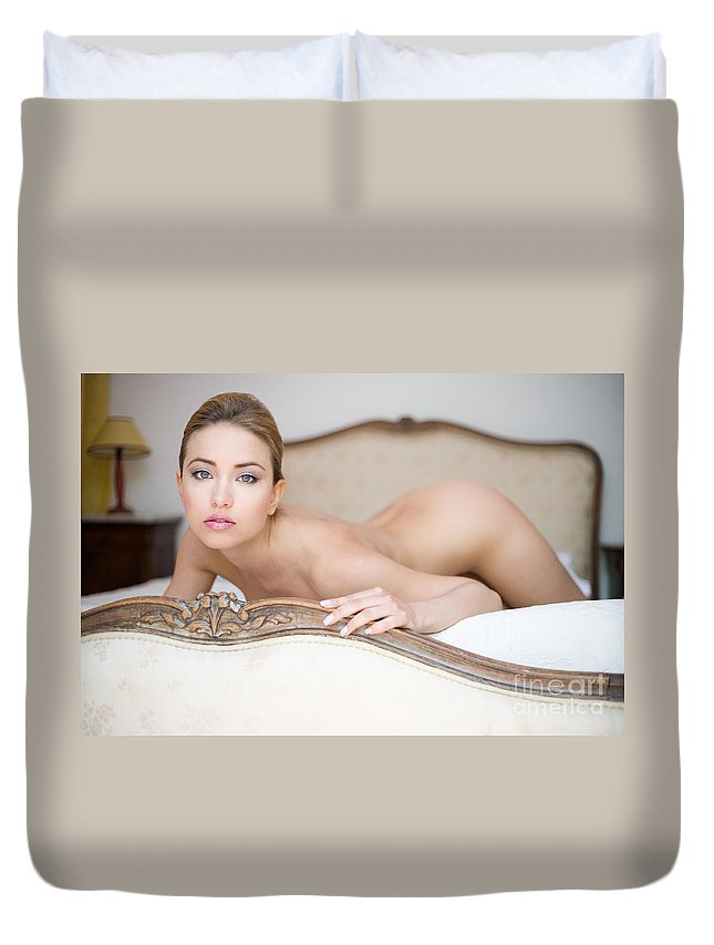 Sensual Duvet Cover featuring the photograph Like A Princess by Olivier De Rycke