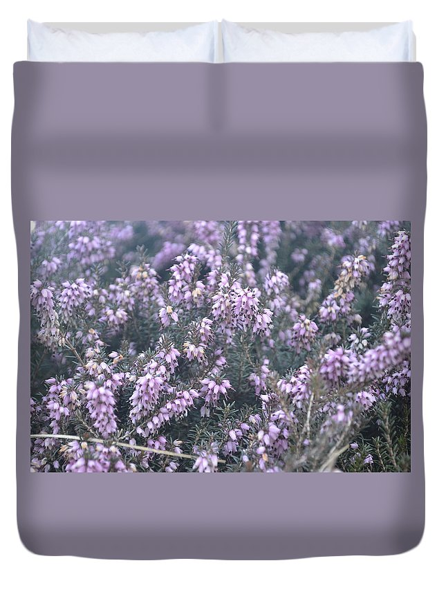Flower Duvet Cover featuring the photograph Lilac Bells by Des Brownlie