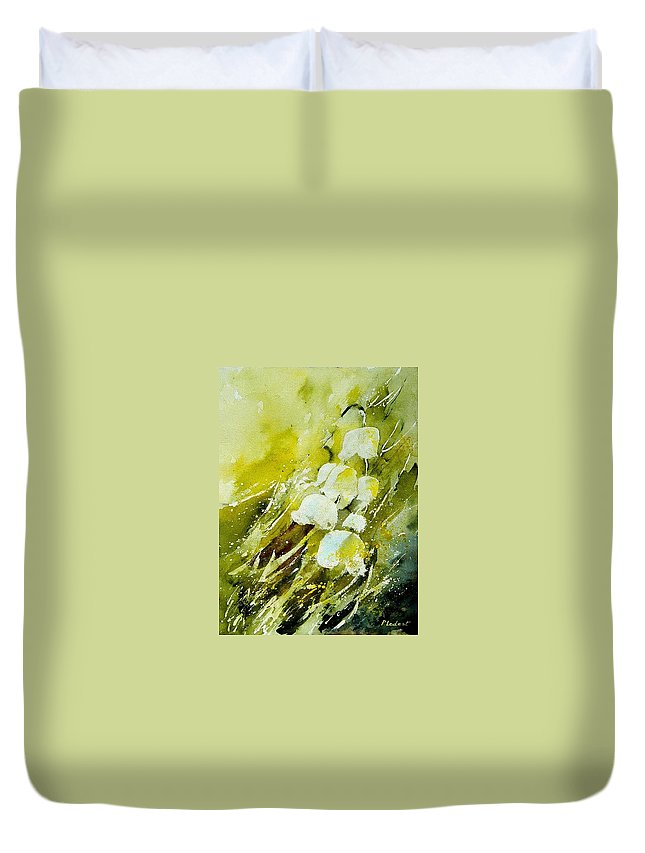 Flowers Duvet Cover featuring the painting Lilly Of The Valley by Pol Ledent