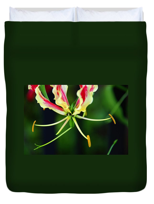 Lilly Duvet Cover featuring the photograph Lilly by Susanne Van Hulst