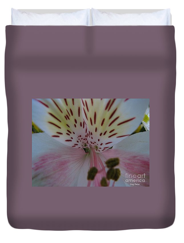 Patzer Duvet Cover featuring the photograph Lily by Greg Patzer